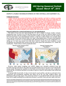 IAG Weather: US Spring Outlook